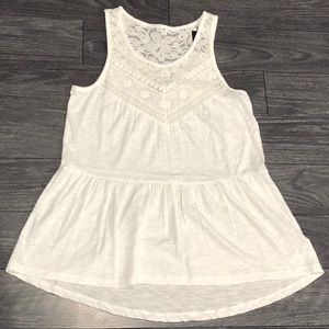 {Express} NWT White Lace Tank Top
